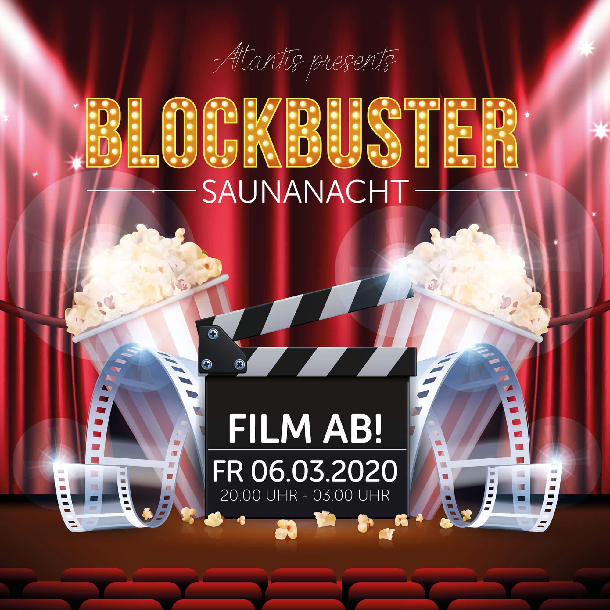 Blokcbuster Saunanacht am 06.03.2020